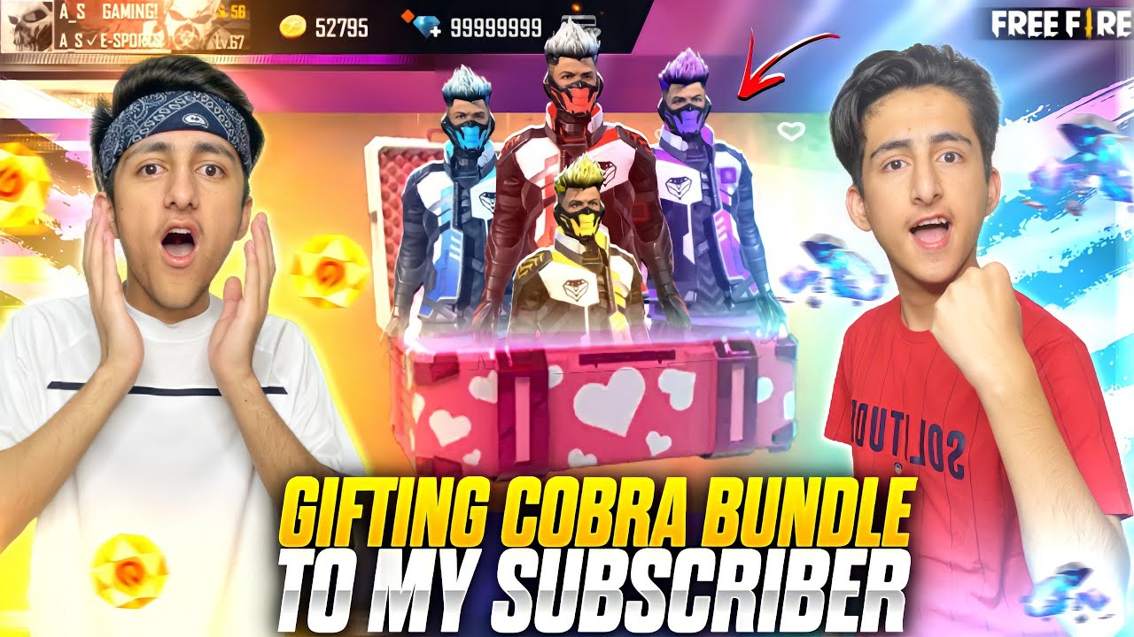 Download Gifting Cobra Bundle To Subscriber 😍 Wasted 10,000 Diamonds Luckiest Subscriber - Garena Free Fire
