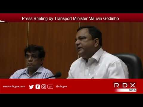 RDXGOA LIVE : Press Briefing by Transport Minister Mauvin Godinho on Taxi Issue