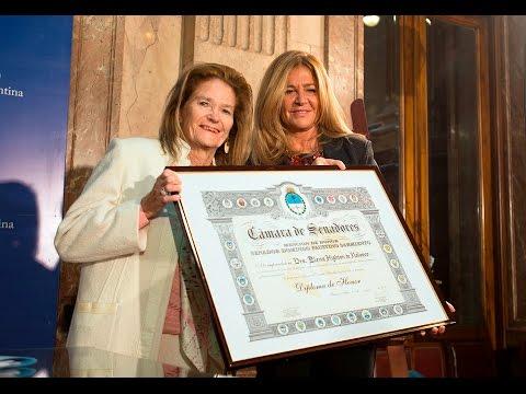 Elena Highton de Nolasco fue distinguida por el Senado de la Nación
