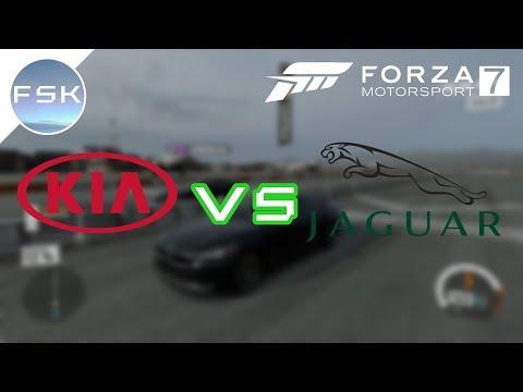FM7 Drag Races #30 - Kia Stinger '18 vs Jaguar XE S '15