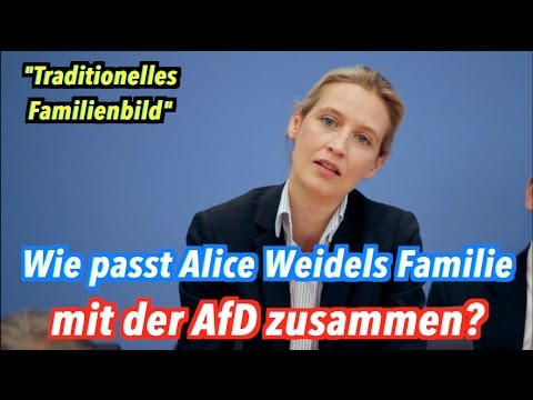 """Zum Familienbild der AfD: Lebt Alice Weidel in einer """"Familie""""?"""