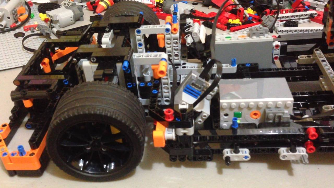 lego technic  porsche  gt rs motorized process