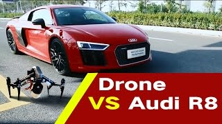 DJI Inspire 2 turbo version VS Audi R8 100 meter race