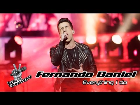 Fernando Daniel  Everything I Do Bryan Adams  Gala  The Voice Portugal