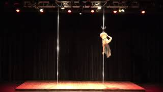 2018 US Pole Dance Championship Novice Level 2 Sexy Division - Bailey Elizabeth