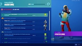 FORTNITE UNLOCKING STRATUS RED VARIANT LIVE OVERTIME CHALLENGES! AND WATCHING WORLD CUP!