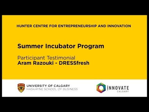 Summer Incubator Program Testimonial - Aram Razouki of DRESSFRESH