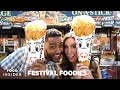LA County Fair: Giant Curly Fry Cone & Chicken And Waffle On A Stick | Festival Foodies
