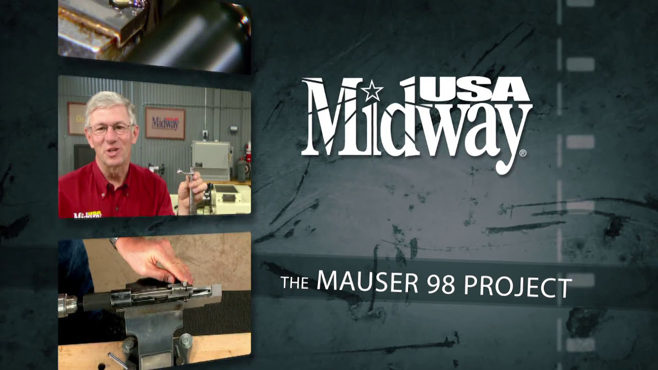 Gunsmithing - How To Polish The Bolt Lug Raceway On A Mauser 98 Bolt Action  Rifle  Midwayusa 01:31 HD