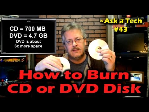 How to Burn a CD or DVD Disk in Windows - Ask a Tech #43 ...