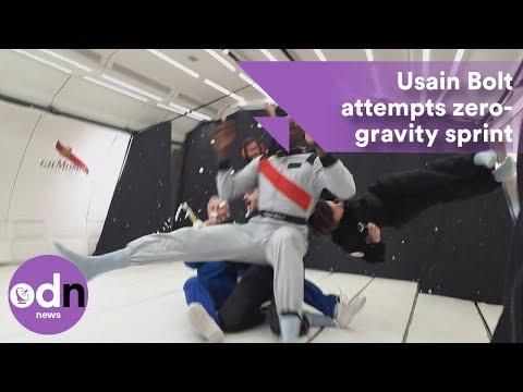 Usain Bolt attempts zero-gravity sprint