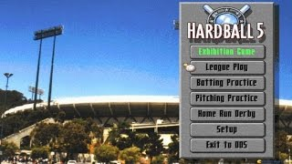 Hardball 5 gameplay (PC Game, 1995)