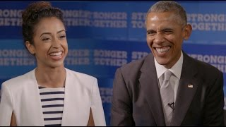 BARACK OBAMA INTERVIEWS LIZA KOSHY!!!