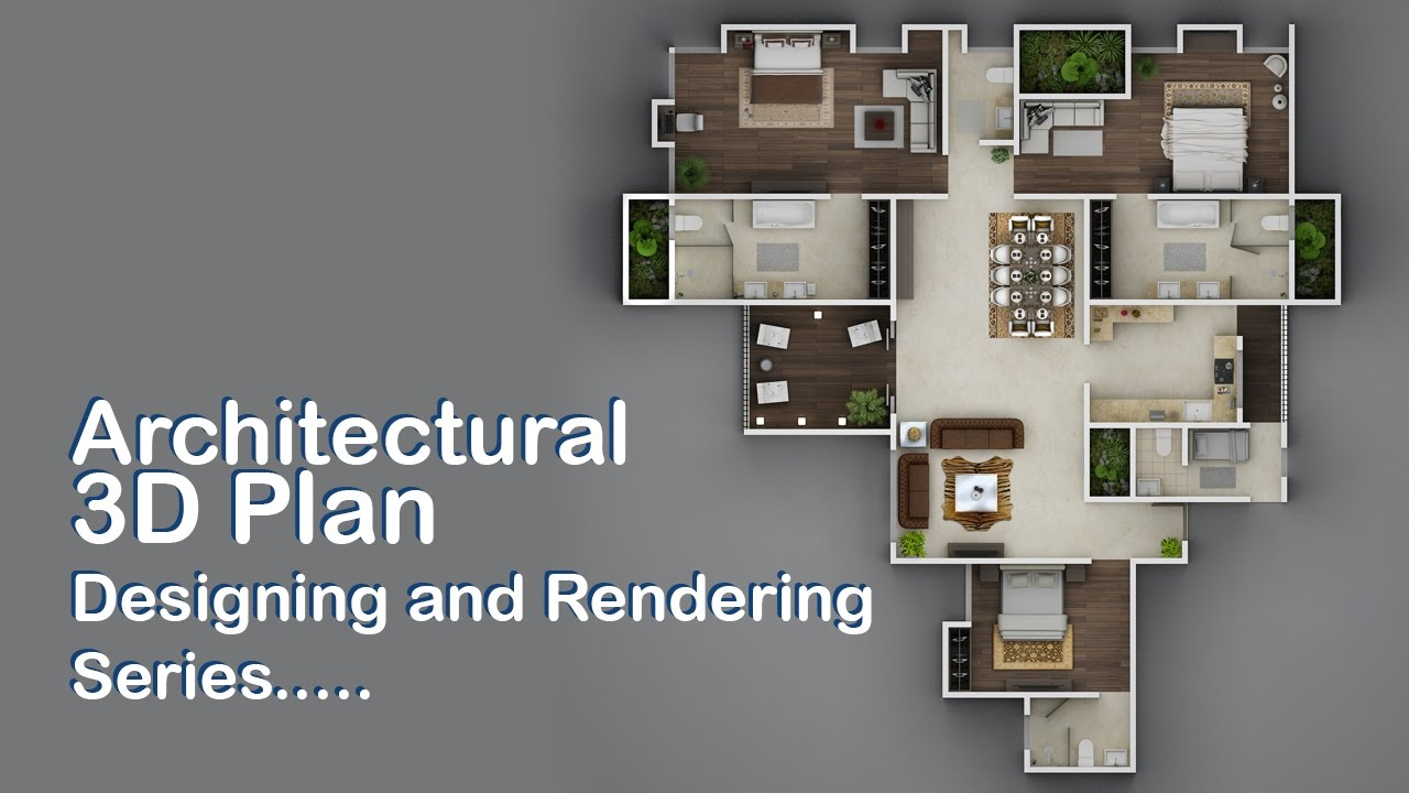 3d plan designing and rendering with 3d studio max part 06 - 3d Plan Design