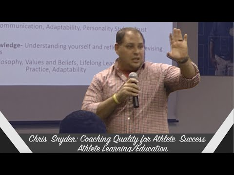 Chris Snyder: Coaching Quality for Athlete Success