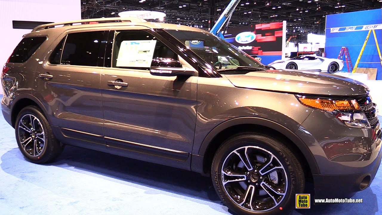 2015 ford explorer sport 4wd exterior and interior walkaround 2015 chicago auto show youtube. Black Bedroom Furniture Sets. Home Design Ideas