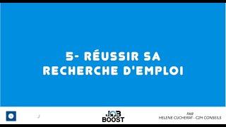 REUSSIR SA RECHERCHE D'EMPLOI