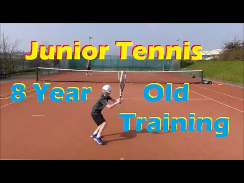 Junior Tennis | Hitting With My 8 Year Old Student | 2015