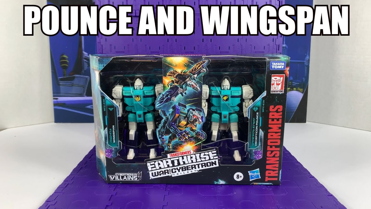 Earthrise Decepticon Clones Pounce and Wingspan Unboxing and Review by Enewtabie