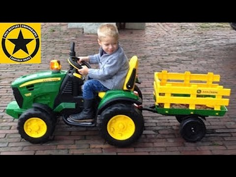peg perego john deere ground force tractor for kids. Black Bedroom Furniture Sets. Home Design Ideas