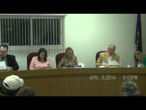 April 9, 2014 Board meeting of Cottrellville Township