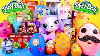 Play Doh Eggs Surprise Toys Videos Kidrobot BFF Marvel Vinylmations Little Mermaid Toy Surprise DCTC