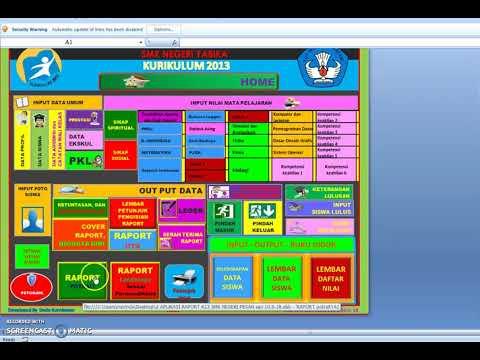 #terbaru Aplikasi Rapot K13 Jenjang SMK