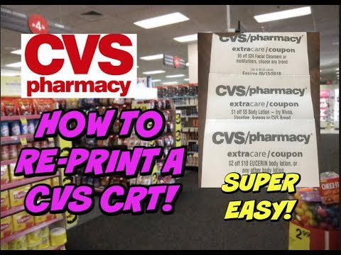 STEP BY STEP | How to RE-PRINT a CVS CRT ~ Super Easy!
