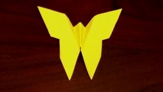 Easy Origami Butterfly - How To Make An Origami Butterfly