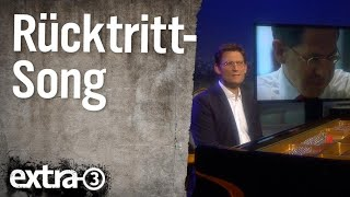 Ehring am Klavier: Rücktritt seems to be the hardest word