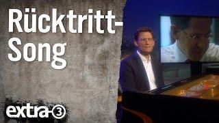 Ehring am Klavier: Rücktritt seems to be the hardest word