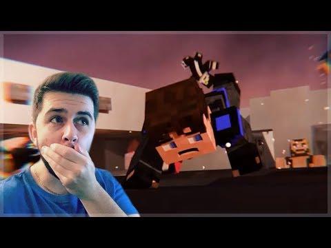 REACTING TO SURVIVAL ISLAND MINECRAFT MOVIE! Minecraft Animations!