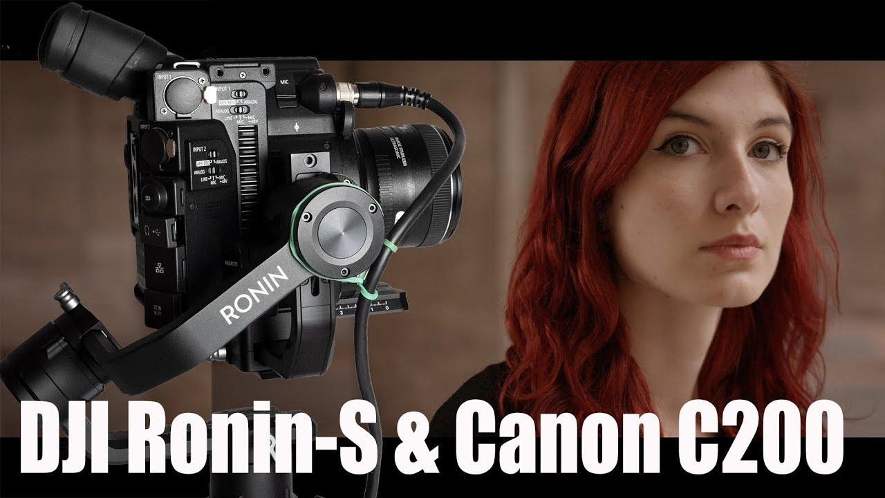 Test : DJI Ronin-S und Canon EOS C200 - wie gut ist der Einhand