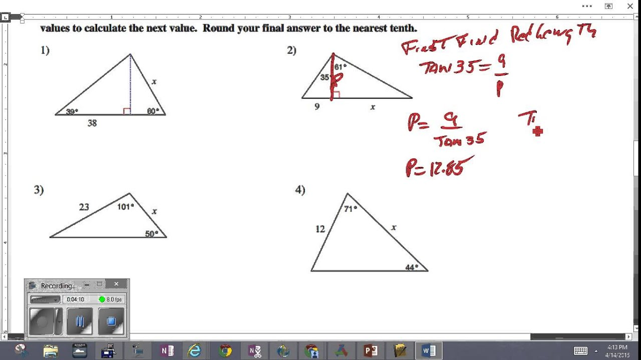 Multi Step Trig Problems 2 Youtube
