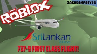 FIRST CLASS | SriLankan Airlines Boeing 737-9 Flight! | ROBLOX