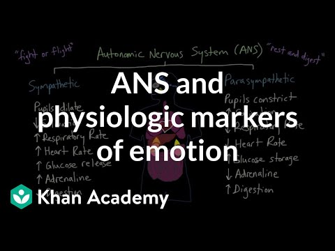Autonomic nervous system (ANS) and physiologic markers of emotion | MCAT | Khan Academy