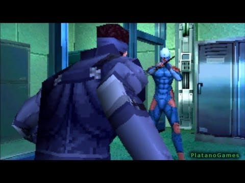 Metal Gear Solid - Solid Snake vs Gray Fox - Boss Fight - Shadow Moses - HD