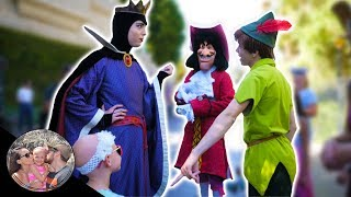 Peter Pan INTERRUPTS the Evil Queen in Disneyland!! *BAD IDEA!* | Disneyland vlog #128