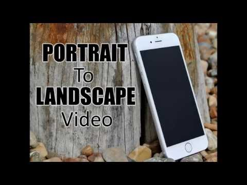 Make a mobile portrait video look good on large screens