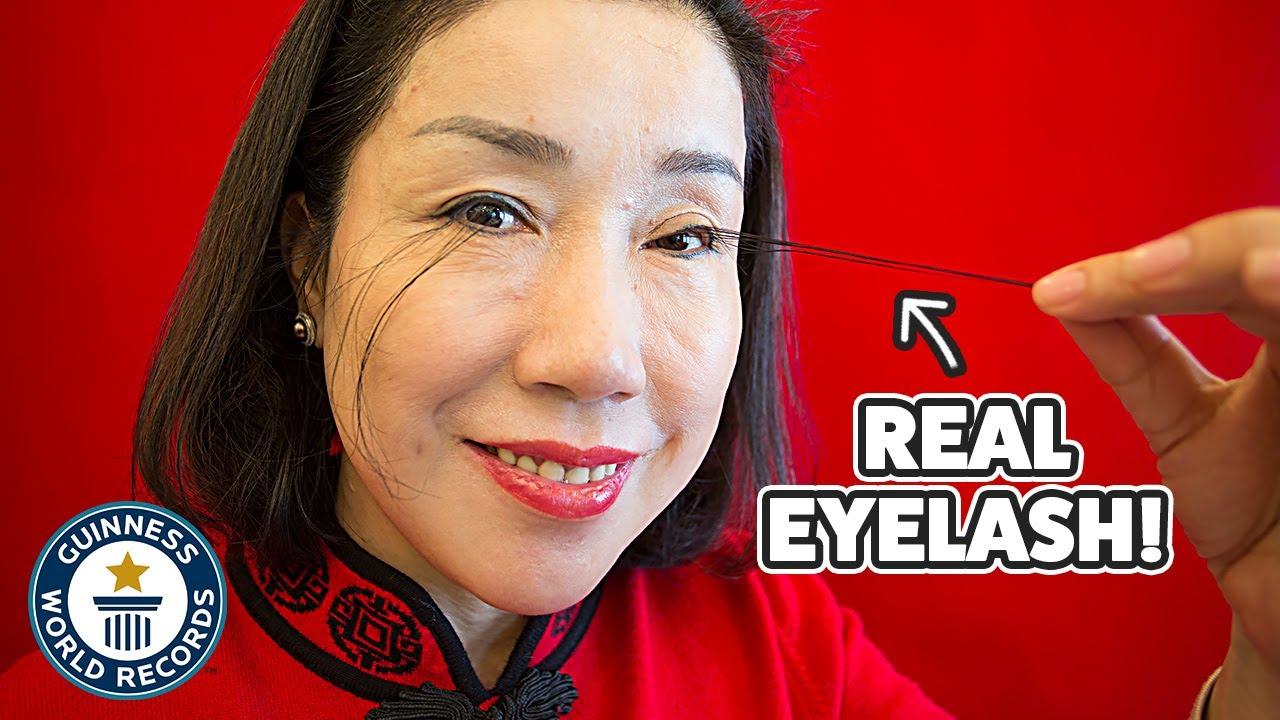 How I got the longest eyelashes ever - Guinness World Records