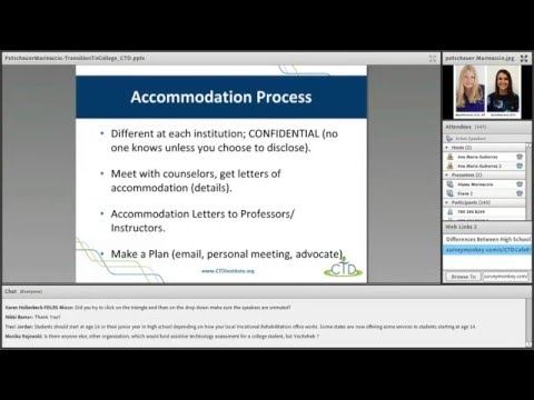 AT & Accommodations in Post-Secondary Ed-Supporting Transition