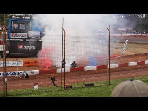 American Flat Track Race 2018(Dixie speedway) BAD CRASH!!!
