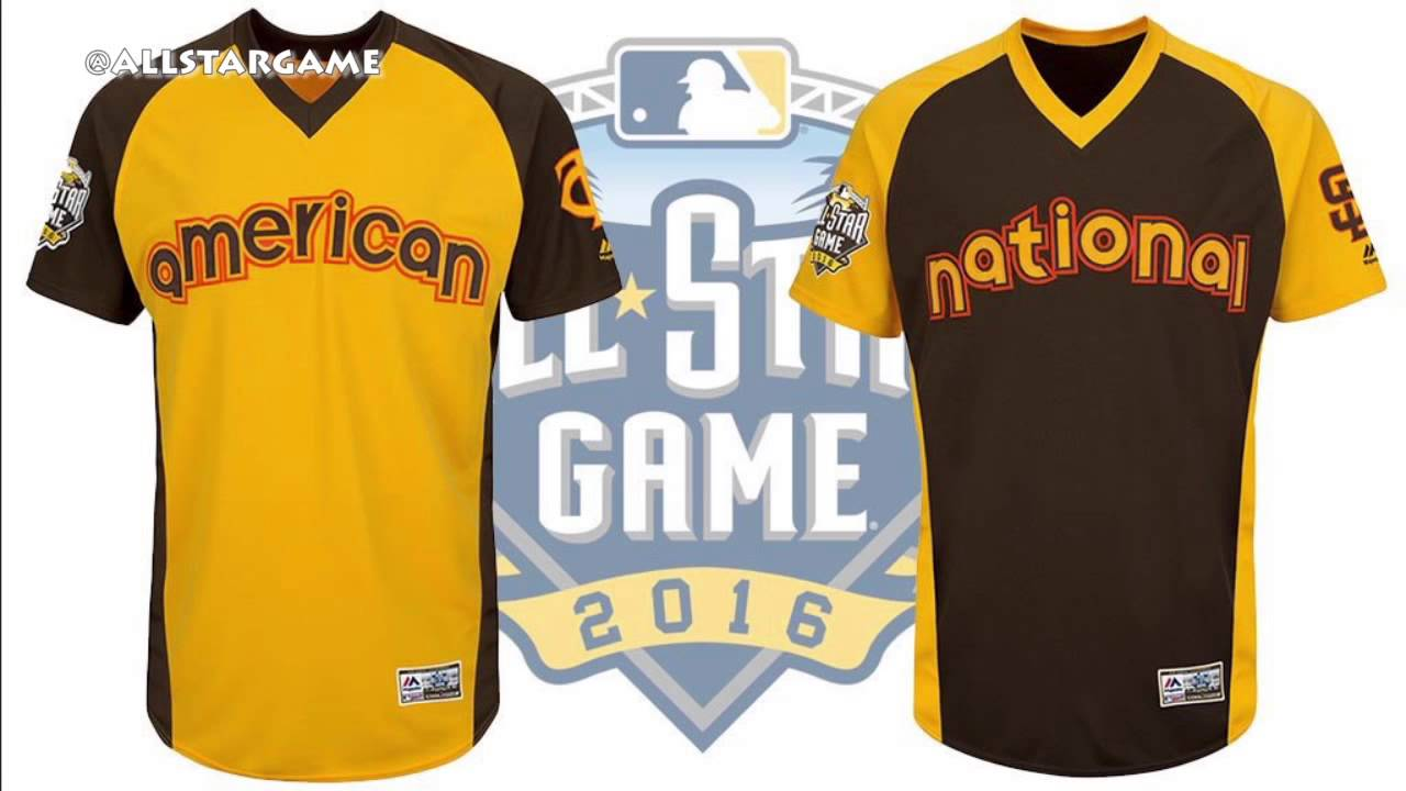 4874d89a1d9 MLB debuts retro themed All-Star Game jerseys - YouTube