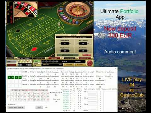 Ultimate Portfolio App | LIVE Play #4 Casino Club Awesome Session | Online Roulette Systems