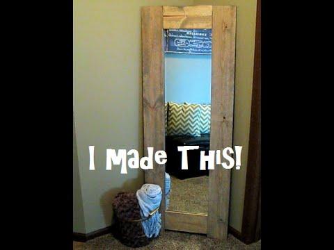 DIY - Wood Framed Mirror For Under $15!