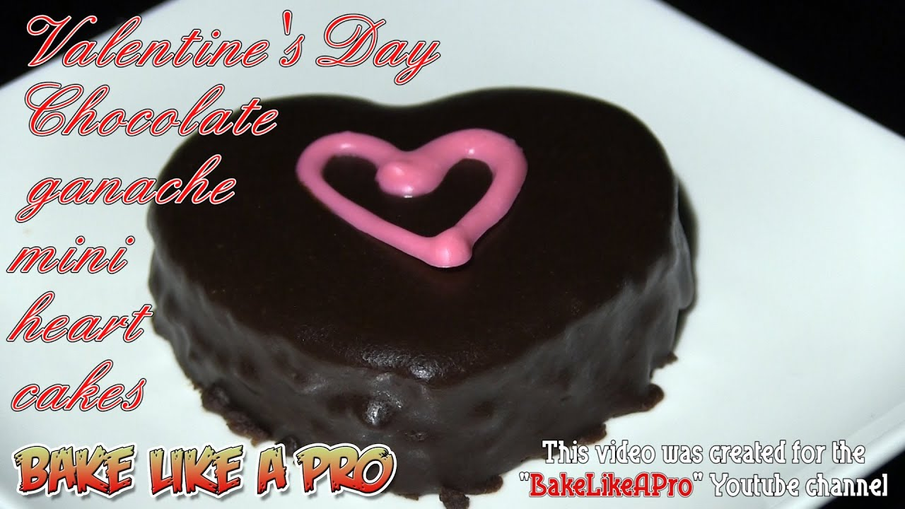 Valentine S Day Chocolate Ganache Mini Heart Cake Recipe Youtube