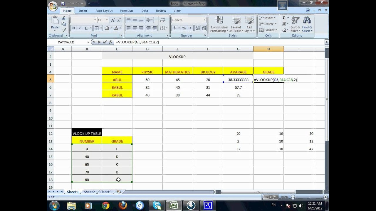 Excel Vlookup Example Different Sheet