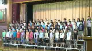 4年生が歌う「サモア島の歌」です。
