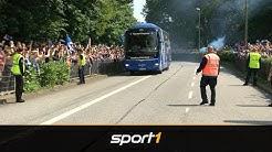 Gänsehaut! So feierten die Fans des Hamburger SV ihre Mannschaft vor dem Spiel | SPORT1