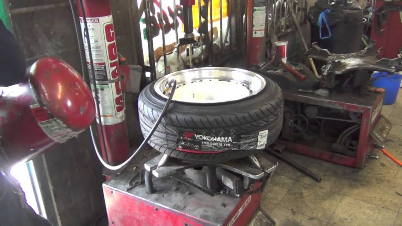 Stretching Tires 175 50 R16 On 16x8 Youtube